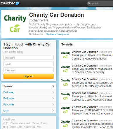 Charity Car Twitter